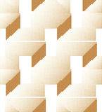 Halftone colorful seamless retro pattern 3D geometry polygon stock illustration
