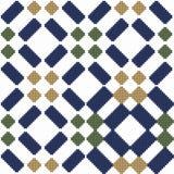 Halftone colorful seamless retro pattern diamond check square ge Stock Images