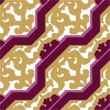 Halftone colorful seamless retro pattern elegant purple geometry Royalty Free Stock Image
