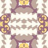 Halftone colorful seamless retro pattern elegant purple sawtooth Stock Photo