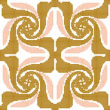 Halftone colorful seamless retro pattern gold pink spiral  Stock Image