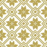 Halftone colorful seamless retro pattern golden square check cro Royalty Free Stock Image
