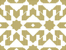 Halftone colorful seamless retro pattern golden star geometry cr Royalty Free Stock Photography