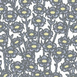 Halftone colorful seamless retro pattern nature garden plant vin Stock Images
