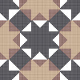 Halftone colorful seamless retro pattern octagon star cross triangle geometry. Can be used for both print and web page royalty free illustration