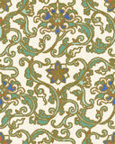 Halftone colorful seamless retro pattern oriental Chinese botani Stock Image