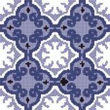 Halftone colorful seamless retro pattern purple blue spiral  Stock Image