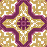 Halftone colorful seamless retro pattern purple cross Islam  Stock Photo