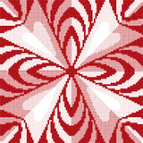 Halftone colorful seamless retro pattern red pink rhomb geometry Royalty Free Stock Photo