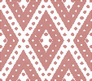 Halftone colorful seamless retro pattern red rhomb check  Stock Photo