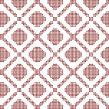 Halftone colorful seamless retro pattern round corner square che Royalty Free Stock Images