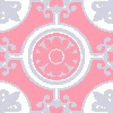 Halftone colorful seamless retro pattern round curve spiral cros Stock Photo