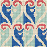 Halftone colorful seamless retro pattern spiral curve aboriginal Royalty Free Stock Photo