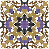 Halftone colorful seamless retro pattern spiral purple brown flo. Wer kaleidoscope can be used for both print and web page Stock Photo