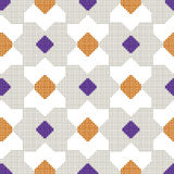 Halftone colorful seamless retro pattern square polygon check cr Royalty Free Stock Photography