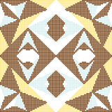 Halftone colorful seamless retro pattern star check triangle cro Royalty Free Stock Photo