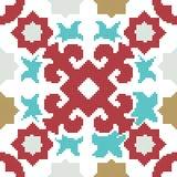 Halftone colorful seamless retro pattern star geometry kaleidosc Royalty Free Stock Images