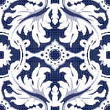 Halftone colorful seamless retro pattern vintage blue spiral lea Stock Image