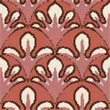 Halftone colorful seamless retro pattern vintage crimson curve  Royalty Free Stock Photo