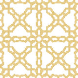 Halftone colorful seamless retro pattern yellow cross flower geo Stock Photos