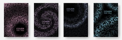 Halftone comic covers set vector graphic design. royalty free stock photography