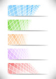 Halftone communicational headers or cards collecti Stock Photography