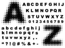 Halftone complete alphabet vector Royalty Free Stock Images
