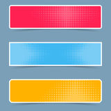 Halftone creative banners Royalty Free Stock Photos