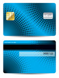 Halftone credit card design Stock Photo