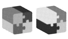 Halftone cubes Royalty Free Stock Images