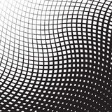 Halftone curved grid background. Vector graphic for design Royalty Free Stock Photography