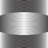 Halftone curved lines. Bulge stripes with lines Stock Photos