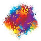 Halftone de regenboog van de inkt stock illustratie