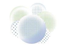 Halftone In de schaduw gestelde Cirkels Royalty-vrije Stock Afbeelding