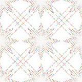 Halftone de symmetrie naadloos patroon van de ster kleurrijk punt vector illustratie