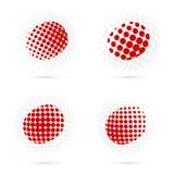 Halftone de vlag vastgesteld patriottisch vectorontwerp van Japan vector illustratie