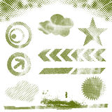Halftone design elements Stock Images