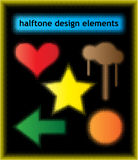 Halftone design elements Stock Photos