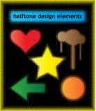 Halftone design elements Stock Photos