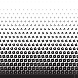 Halftone with diamonds and squares Royalty Free Stock Images