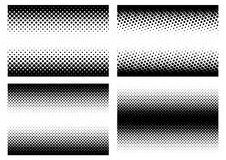 Halftone in different variations in vector Royalty Free Stock Photography