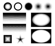 Halftone in different variations in vector Stock Image