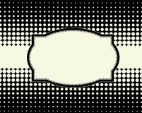 Halftone dot background frame royalty free illustration