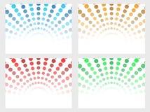 Halftone dot background set. Four different colors halftone dot background set Stock Photos