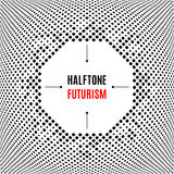 Halftone dot design technology frame Background abstract white vector Royalty Free Stock Image