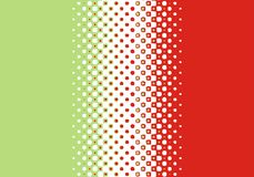 Halftone dot pattern. Artistic Dot background in Red+Green Stock Illustration