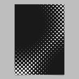 Halftone dot pattern brochure background design - vector graphic from circles. Halftone dot pattern brochure background design - vector graphic design from Royalty Free Stock Photos