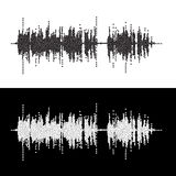 Halftone dot square vector elements Vector sound waves Stock Images
