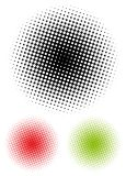 Halftone dots. Radial gradient composed of halftone dots royalty free illustration