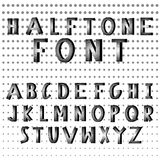 Halftone dots alphabet letters Royalty Free Stock Photography